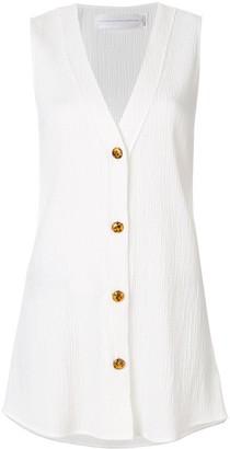 Victoria Victoria Beckham V-Neck Sleeveless Shirt