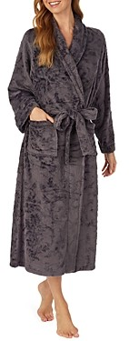 Eileen West Floral Long Plush Fleece Robe