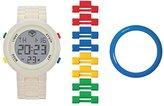 Lego 747415 – Unisex Watch – Analogue Quartz – White Dial – Bracelet Multicolor Plastic