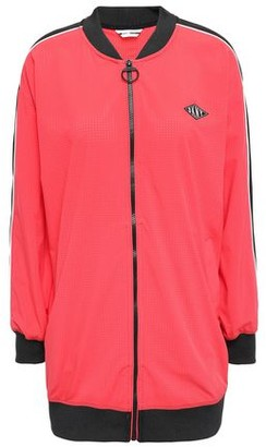 DKNY Appliqued Perforated Scuba Track Jacket