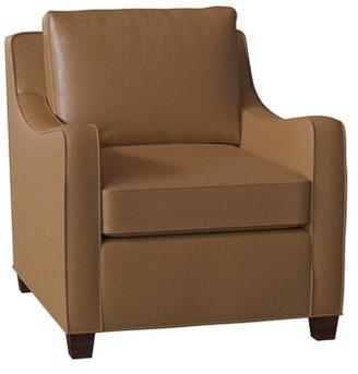 "Bradington-Young Dalton 32"" W Armchair Body Fabric: Applause Choco Swiss, Leg Color: Mahogany, Cushion Fill: Premier Down"