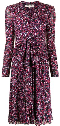 Diane von Furstenberg Floral Print Flared Dress