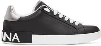 Dolce & Gabbana Black and White Portofino Sneakers