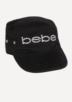 Bebe Logo Rhinestone Cadet Hat