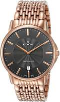 Edox Men's 56001 37RM GIR Les Bemonts Analog Display Swiss Quartz Rose Gold Watch