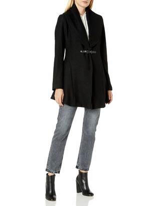 Kensie Women's Buckle Front Coat