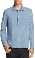 Solid & Striped Linen Regular Fit Popover Shirt
