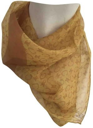 Celine Orange Silk Silk handkerchief