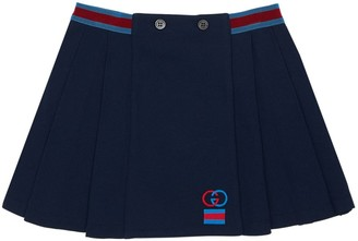 Gucci Pleated Cotton Piquet Skirt