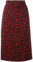 Blumarine neon animal print skirt