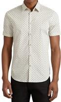 John Varvatos Trefoil Slim Fit Button Down Shirt