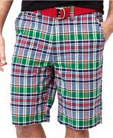 Nautica Shorts, Flat Front Plaid Shorts