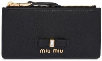 Miu Miu Madras zipped coin purse