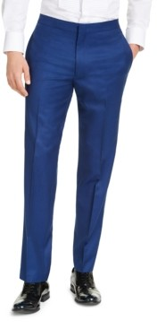 Alfani Men's Slim-Fit Stretch Blue Tuxedo Pants, Created for Macy's