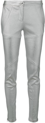 Yves Salomon Stretch Leather Leggings