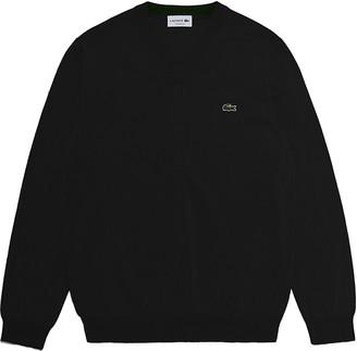 Lacoste Tricot V-Neck Cotton Sweater
