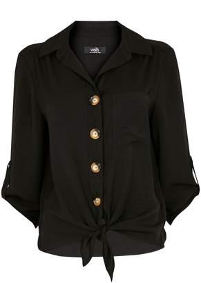 Wallis **TALL Black Tie Front Shirt