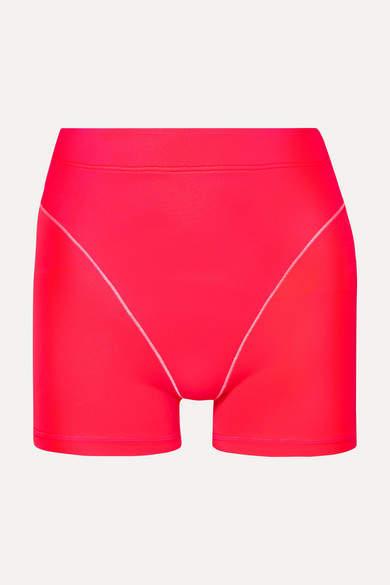 Adam Selman Neon Stretch Shorts - Bright pink