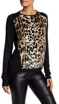 T Tahari Faux Fur Cheetah Print Sweater