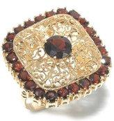 Tatitoto Gioie Women's Ring in 18k Gold with Garnet, Size 5.5, 15 Grams