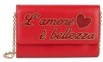 Dolce & Gabbana L'Amore E Bellezza Leather Crossbody Bag