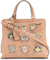 Valentino Joylock medium tote with floral appliqués