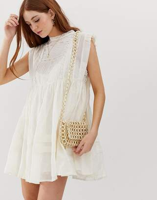 Free People Nobody Like You embroidered smock dress-White