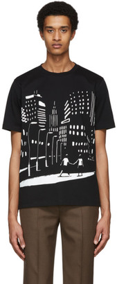 Paul Smith and Christoph Niemann Black Night Scene Print T-Shirt