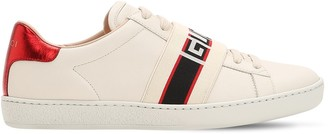 Gucci New Ace Elastic Band Leather Sneakers