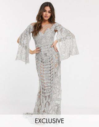 A Star Is Born exclusive embellished maxi dress in silver