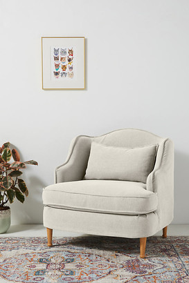 Anthropologie Hannah Slipcover Chair By in Beige