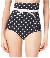 Michael Kors Polka-Dot High-Waist Bikini Bottom