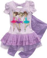Beautees Kids Set, Little Girls Ballerina Dress and Leggings