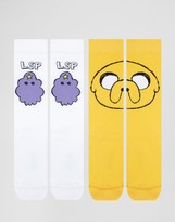 Asos Socks With Adventure Time Design 2 Pack