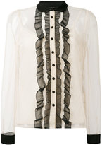 RED Valentino lace inserts shirt - women - polyester/Silk - 42