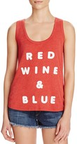 Wildfox Couture Red, Wine & Blue Printed Tank