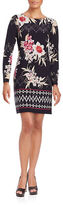 Vince Camuto Long Sleeve Floral Printed Dress