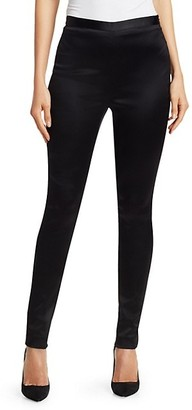 St. John Stretch Satin Skinny Pants