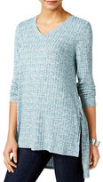 Style And Co. Ribbed Hi-Lo Tunic