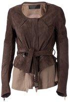 Haider Ackermann 'Pitohuis' jacket - women - Cotton/Leather/Viscose - 36