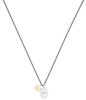 Miansai Mini Dove Sterling Silver & 18K Yellow Gold Pendant Necklace