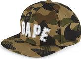 A Bathing Ape Logo Camouflage Cotton Snapback Cap