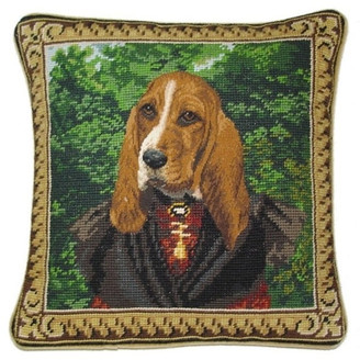 Petit Point Hkh International Mr. Dog Pillow