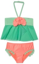 Hula Star Toddler Girl's Mermaid Scallop Two-Piece Swimsuit