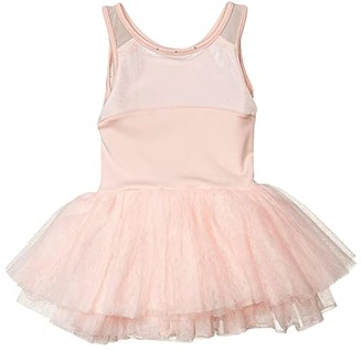 Bloch Mesh Back Tutu Leotard Dress (Toddler/Little Kids/Big Kids) (Light Pink) Girl's Jumpsuit & Rompers One Piece