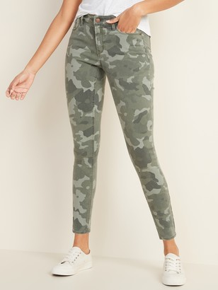 Old Navy Mid-Rise Floral-Camo Print Rockstar Super Skinny Jeans for Women