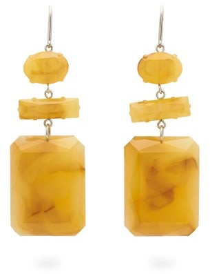 Isabel Marant Marbled Drop Earrings - Yellow
