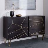 west elm Roar + RabbitTM Brass Geo Inlay 6-Drawer Dresser - Ebony