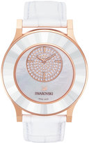 Swarovski Octea Mother of Pearl Rose Gold Leather Strap Watch 39mm