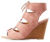 Charlotte Russe Lace-Up Slingback Wedge Sandals